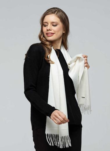Silk and Cashmere Atkı Beyaz